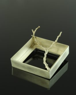 Collection Passages: silver frame brooch